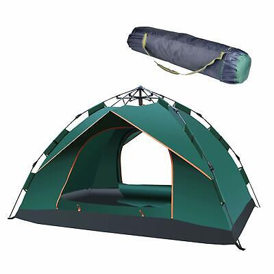 Double Layer Instant Auto Pop Up Large Camping Tent Outdoor Shelter  2-3 Persons