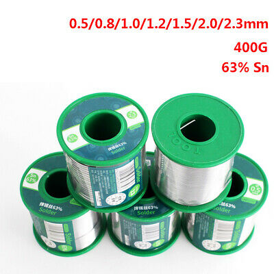 0.5/0.8/1/1.2/1.5/2/2.3MM Solder Wire Rosin Core Tin Coil 400G 63%Sn PCB Repair