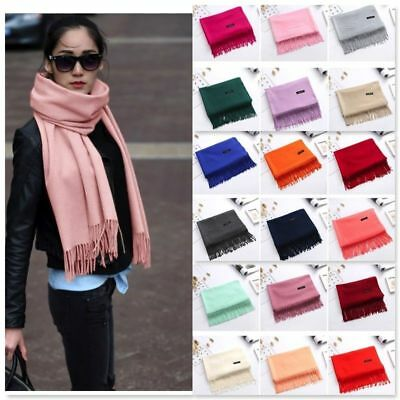Women Tassel Long Warm Winter Cashmere Pashmina Scarf Wrap Shawl Tassel Stole