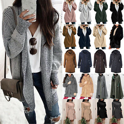 Women Lady Winter Jacket Coat Ladies Long Cardigan Blazer Outwear Tops Overcoats