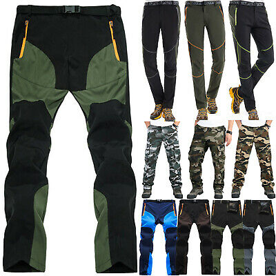 Men Tactical Trousers Waterproof Hiking Climbing Sport Combat Cargo Work Pants