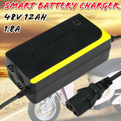 48V 12AH Lead Acid Battery Charger Adapter for Electric Bicycle Bike Scooters