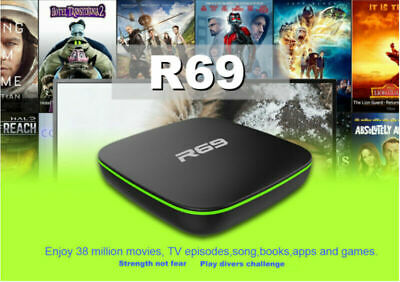 TV BOX SMART Android 7.1 2019 4K WiFi KODI Quad Core 3D Media Player UK New 1+8G