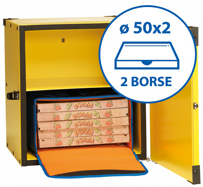 Box Pizza Insulated for 2 Bags from Ø 50cm BP50CR