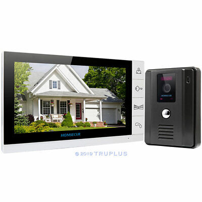HOMSECUR Video Entry Doorbell with 9'' LCD Monitor, HD IR Camera & Lock Release
