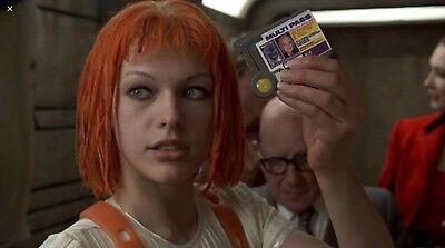 Official QMx 5th Element Leeloo Dallas Multi Pass Lootcrate multipass Loot Prop