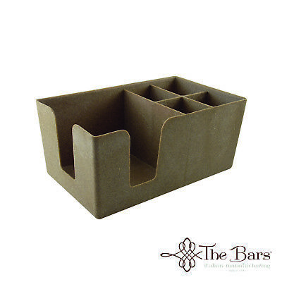 Napkin Bench Colour Mixed Wood Plastic bar Caddy