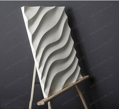 3D Decorative wall panels ABS Plastic molds for Plaster Gypsum alabaster WAVE