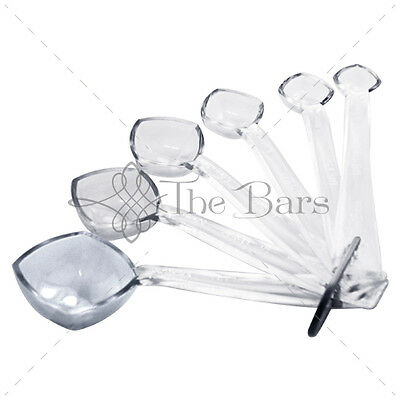 Spoons Measuring Jigger Measuring 6 Pieces Clear B017PC Barman