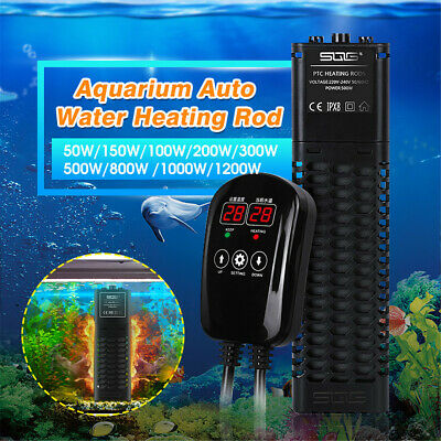 50W-1200W Marine Aquarium Heater Rod Tropical Submersible Auto Water Thermostat