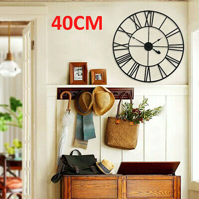Extra Large Roman Numerals Skeleton 40Cm Wall Clock Big Giant Open Face Round