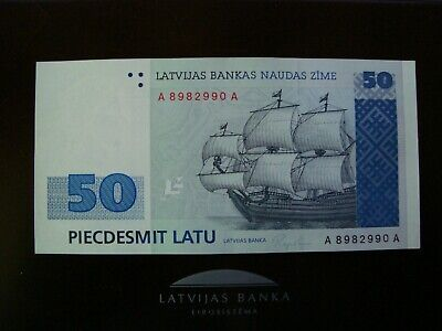 UNC Reproduction Latvia 50 Latu 1992