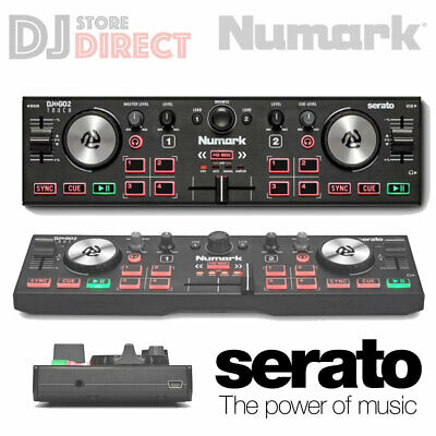 NUMARK DJ2GO2 Portable 2 DJ Controller USB MIDI AUX With Serato + CARRY CASE