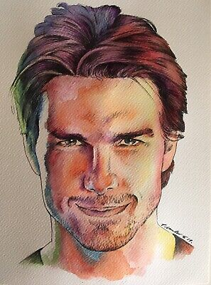 Tom Cruise Original Painting / Drawing . Fan-ART A4