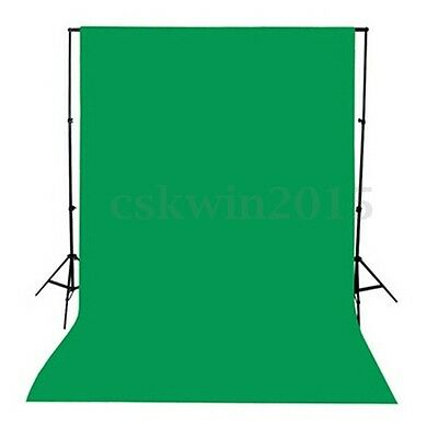 1.5x1M Photo Studio Screen Black White Green Background Backdrop Light Stand Kit
