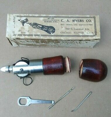 C. A. Myers Co. Famous Lock Stitch Sewing Awl - Sews Leather - Cattle Horses