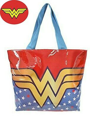 Wonder Woman Design Beach Shopping Bag Pvc
