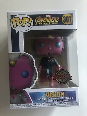 Marvel Avengers Infinity War Hot Topic Exclusive Vision 307 Funko POP! Protector