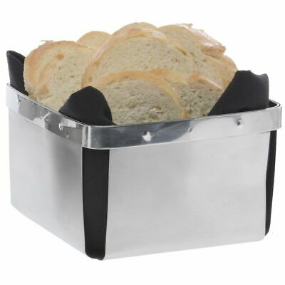 "G.E.T. Large Stainless Steel Bread Basket - 5""L x 5""W x 3 1/2""H #4-80848"