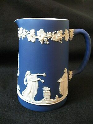 Pottery Antique William Adams Blue And White Tokio Large Mug Tankard C1896-1914 Tokyo Adams