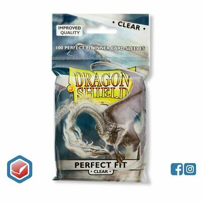 Dragon Shield Perfect Fit Toploader 100ct Clear STANDARD   63x88mm Sleeves