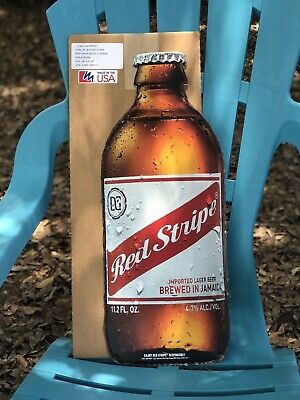 "Cheap Father's Day Gift RED STRIPE BOTTLE Metal Beer Sign Man Cave New 24""X9.74"""