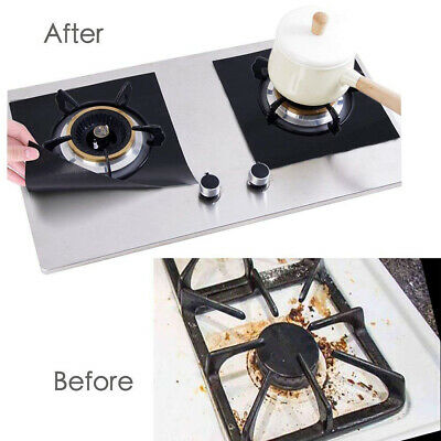 Ess Stove Burner Gas Range Protectors Covers Duster Spatula Thick Cuttable 8 Pcs