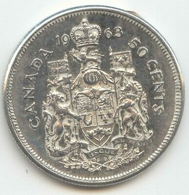 Canada 1963 Silver 50 Cent Piece Canadian Half Dollar 50c EXACT COIN SHOWN