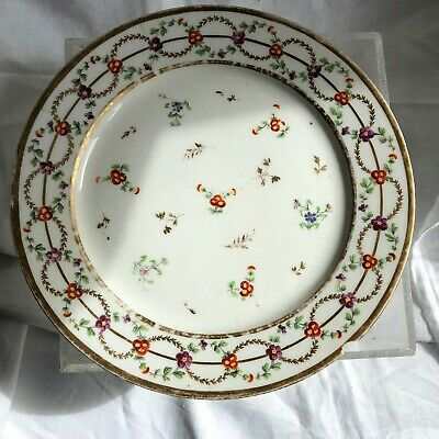 Assiette  Porcelaine De Paris 18 Eme Siecle Rue De Thiroux