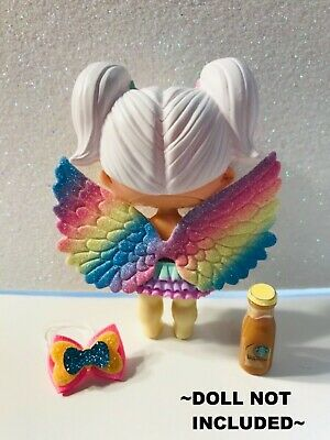 3 PC Custom LOL Surprise Accessories Bow Starbucks Angel Fairy Wing Clothes Lot