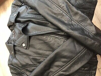 Girls bluezoo leather Look Jacket