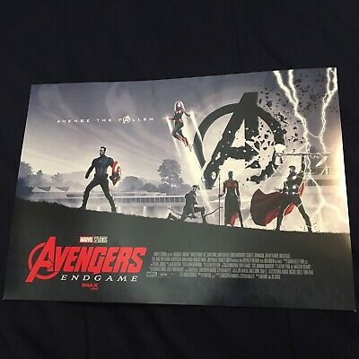 Official Marvel Avengers Endgame 11x15 Theatrical Release Collectible Poster AMC