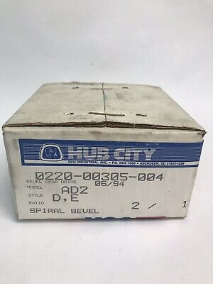 Hub City Gear Reducer 0220-00305-004 2:1 Ratio Spiral Bevel Model AD2 New In Box