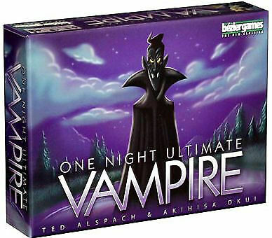 One Night Ultimate Vampire Board Game Bezier Games, Inc. BRAND NEW ABUGames