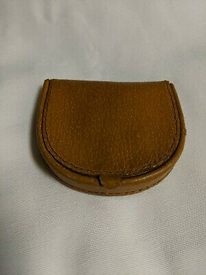 5ff7c9a79d7f41 Folding Coin Purse Pigskin Leather Wallet Made in England Holder Vintage