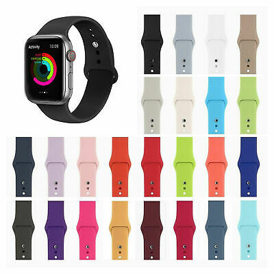 Silicone Sports Band Strap for Apple Watch iWatch Series 4 3 2 1 38/40mm 42/44mm