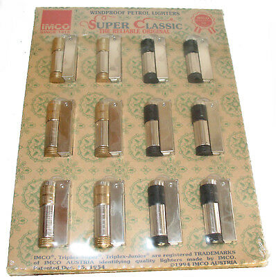 Paper Display 12 Imco Super Classic Made Austria Stainless Lighter 6700