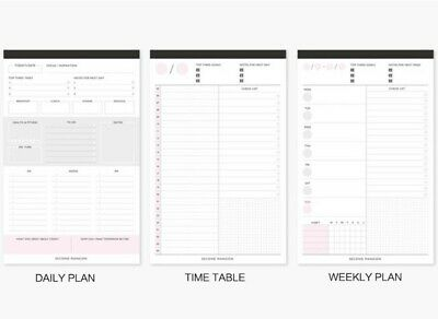 60Pcs Weekly Daily Planner Agenda Schedule Plan Memo Pad Note Paper