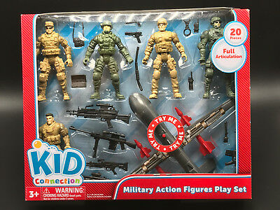 20 piece Military Action Figures Play Set KID CONNECTION
