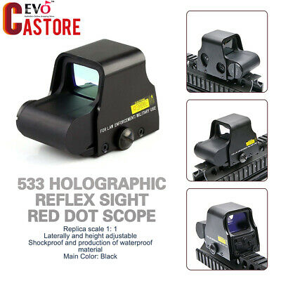 Aluminum Holographic Reflex Sight Red Dot Scope Tactical Red-Green Rifle Sight