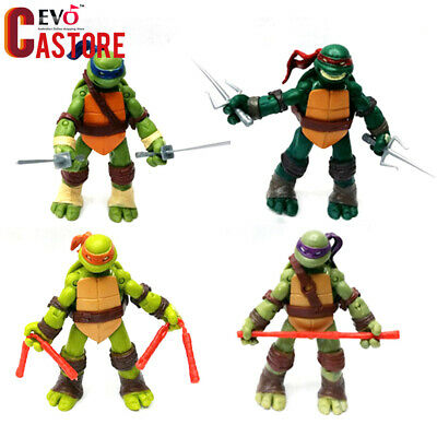 4pcs/set Teenage Mutant Ninja Turtles Action Figures TMNT Toy Gift Collection