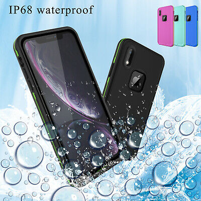 For iPhone XS Max/XR/X IP68 Waterproof Shockproof Lifeproof Dirtproof Case Cover