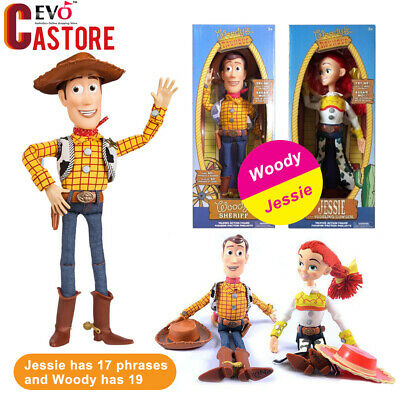 Bisney Talking Toy Story Sheriff Woody Jessie Soft Doll Action Figures Play Set