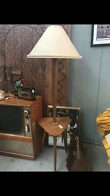 Retro Floor Lamp with Table
