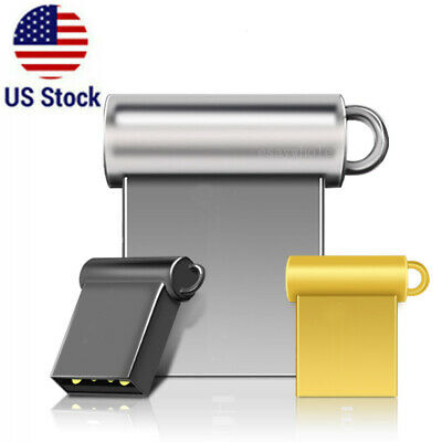 2TB 128GB Mini Micro Metal USB 2.0 Flash Drive Memory Stick U Disk Thumb PC USA