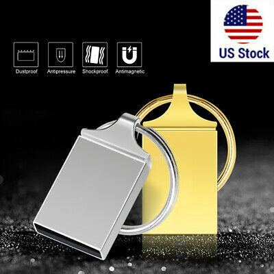 2TB Mini Micro Metal USB 2.0 Flash Drive Memory Stick Pen U Disk Thumb PC USA