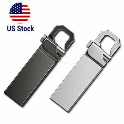 2TB Metal USB 2.0 Flash Drive Memory Stick Pen Thumb U Disk Pendrive Buttom USA