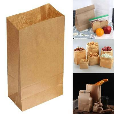 fe41417638 Recyclable Food Bags Brown Kraft Paper Gift Bags Wedding Candy Packaging  100PC