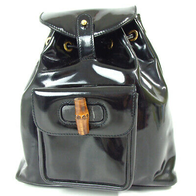 f62629f2f54b Authentic GUCCI 00320580030 Bamboo mini Backpack · Daypack Patent leather.