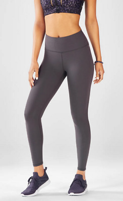 6567d97569a79 FABLETICS HIGH WAISTED Solid Powerhold Capri Leggings Black Large L ...